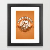 Chew-Baccy (Wookie Chewi… Framed Art Print