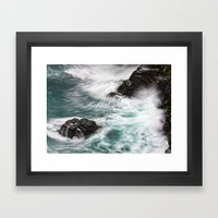 Atlantic Coast, Cornwall… Framed Art Print