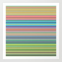 STRIPES17 Art Print