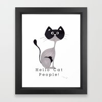 Hello Cat People Framed Art Print