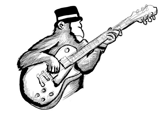 Rocking Monkey Art Print