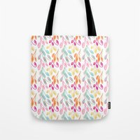 Smaller Colorful Swirls Tote Bag
