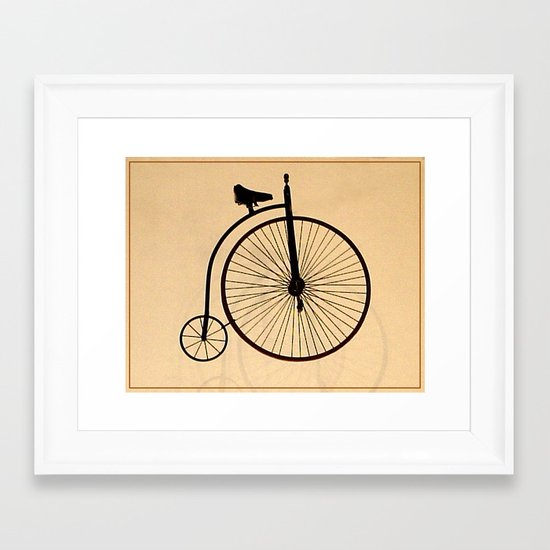 Speedy Bike Framed Art Print