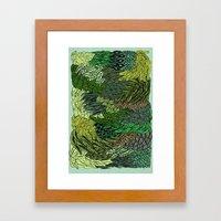 Leaf Cluster Framed Art Print