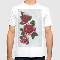 New roses Mens Fitted Tee White SMALL