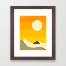DEATH VALLEY Framed Art Print