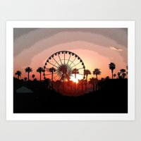 Coachella Sunset 2 Art Print