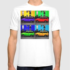Eastern Germany Car - Trabant 601s Mens Fitted Tee SMALL White