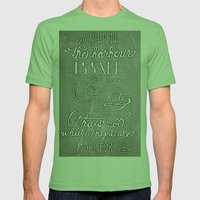 Chalkboard hand-lettered motivational quote Mens Fitted Tee Grass SMALL