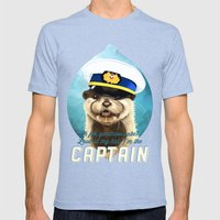 Captain Otter Mens Fitted Tee Tri-Blue SMALL