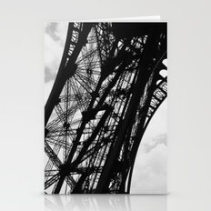 Eiffel Tower Base Detail in Black and White Stationery Cards