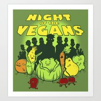 Night of the Vegans Art Print