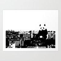 Giant Panda Invades Toa … Art Print