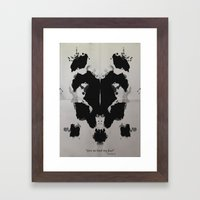 Rorscharch Framed Art Print