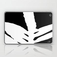 Green Fern White And Bla… Laptop & iPad Skin