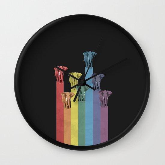 Lightephants Parade Wall Clock