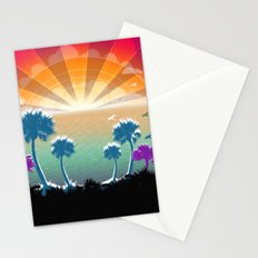 Golden Silver and Sunshine Stationery Cards