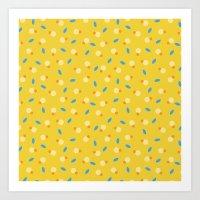 playful yellow Art Print