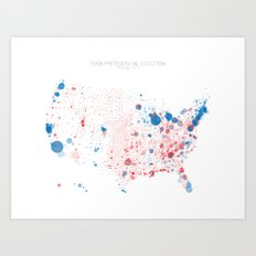 Election Mapping 2008 Art Print