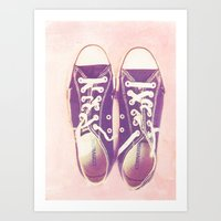 My Beloved Converse: Pal… Art Print