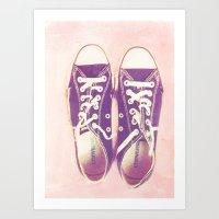 My Beloved Converse: Pal… Art Print
