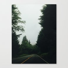 Gloomy Road Canvas Print