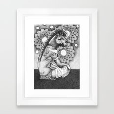 A young wizard Framed Art Print