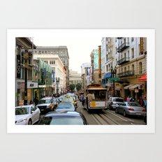 San Francisco Street in Color Art Print