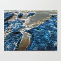 Abstract rock pool and sand on a beach in Queensland Canvas Print