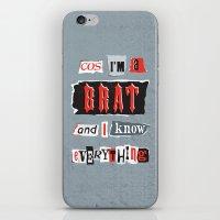 Brat Attack iPhone & iPod Skin