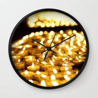 Prayer Candles In Church… Wall Clock