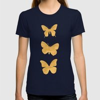 A Study in Flight Womens Fitted Tee Navy SMALL