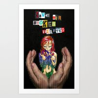 Save Our Broken Hearted Art Print