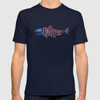 fish head Mens Fitted Tee Navy SMALL