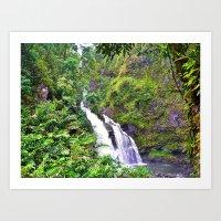 Hawaii - Waterfall II Art Print