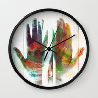 Painter's Hands Wall Clock