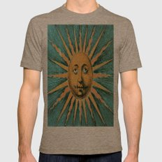 Vintage Sun Print Mens Fitted Tee Tri-Coffee SMALL