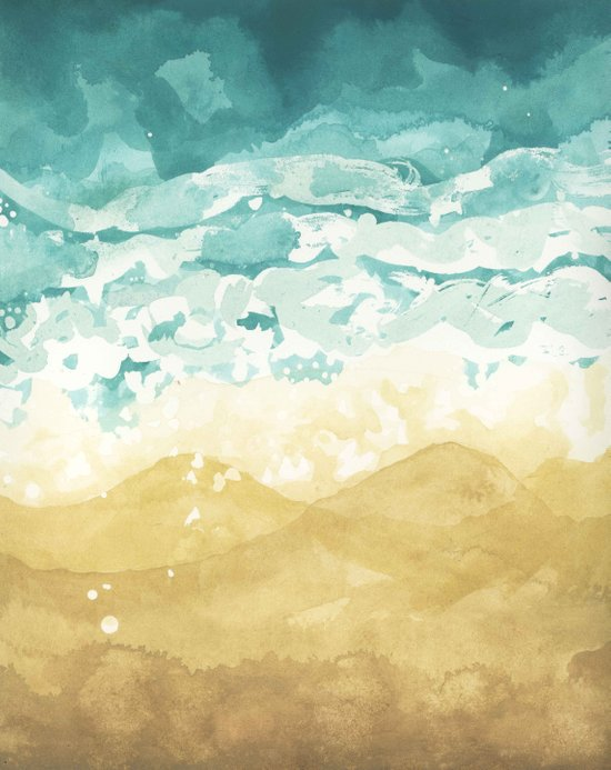 Minimalist Shore - Beach Painting Art Print