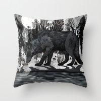 Black Shuck Throw Pillow