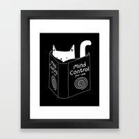 Mind Control 4 Cats Framed Art Print