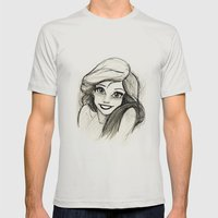 Ariel Mens Fitted Tee Silver SMALL