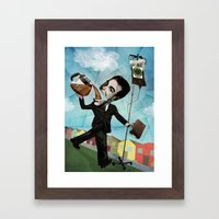 Superheroes SF - For the love of Coffee Framed Art Print