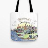 Tote Bag featuring We Belong In Brooklyn by Brooke Weeber