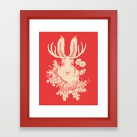 Jackalope Tattoo Framed Art Print