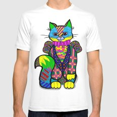 cheshire cat SMALL White Mens Fitted Tee