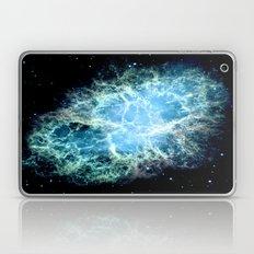 Crab Nebula Aqua Teal Blue Laptop & iPad Skin