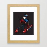 ZOMBIE CAPTAIN  Framed Art Print