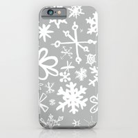 iPhone & iPod Case featuring Snowflake Concrete by Ben Weeks