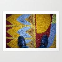 Shoes Rug Art Print