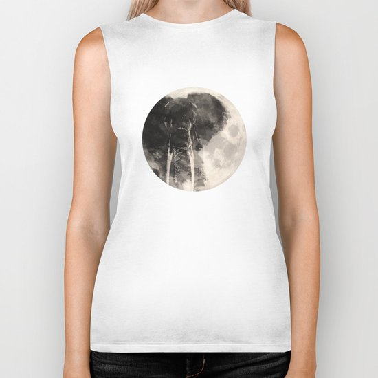 The Elephant in The Moon Biker Tank